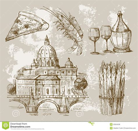 rome decoration hand hand drawn of rome royalty free stock photos image 23934538