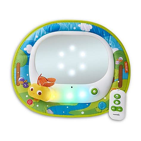 brica car seat mirror with remote brica 174 by munchkin baby in sight 174 magical firefly car back