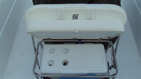 carolina skiff boat seats sold new carolina skiff cooler seat with locking back