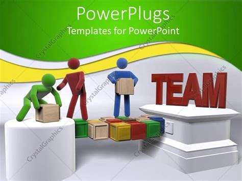 Powerpoint Template Teamwork Metaphor With 3d People Teamwork Powerpoint Template