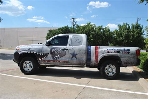 american flag truck troops toyota truck fleet car wrap city