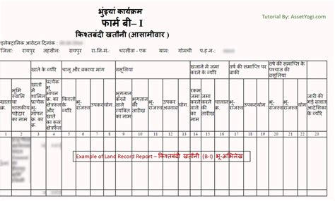 Report Records Cg Land Record Bhuiya Chhattisgarh Step By Step Guide