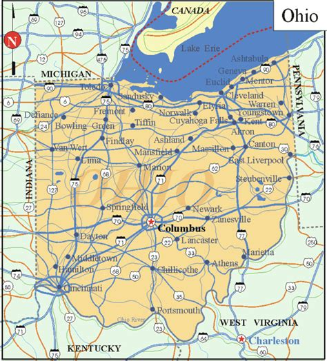 ohio on the us map ohio facts and symbols us state facts