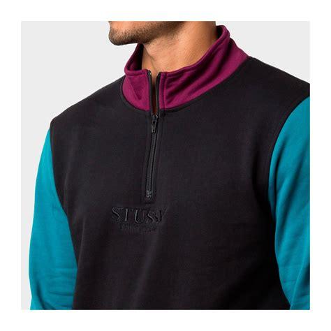 Hoodie Stussy Import st 252 ssy s clothing st 252 ssy half zip mock neck black