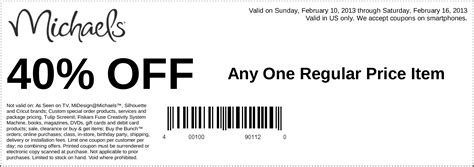 printable barcode 40 off coupon code 2015 best auto reviews michaels 40 off item printable coupon