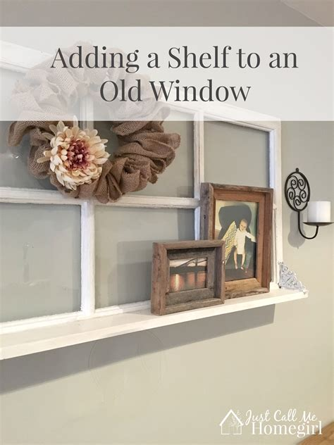 window pane decor adding a shelf to an window just call me homegirl
