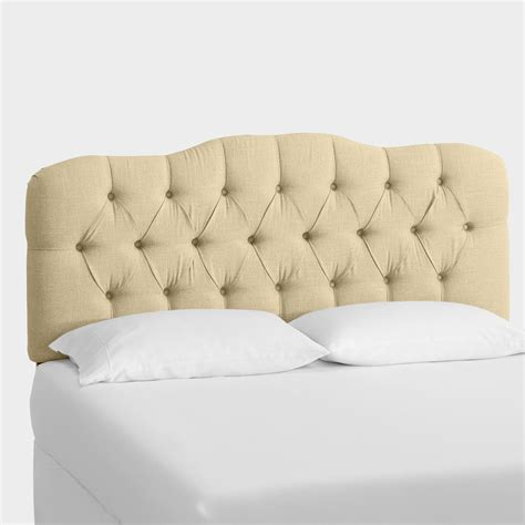 linen headboard linen rae upholstered headboard world market
