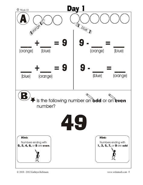 1st Grade Common Math Worksheets grade daily math worksheets common 1st