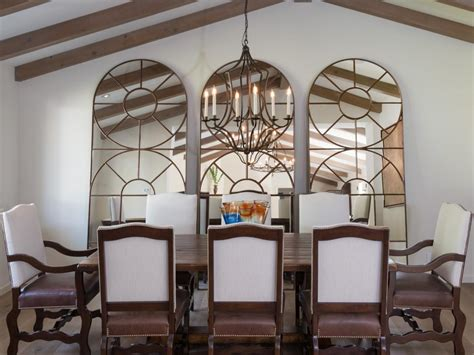 decorative mirrors for dining room photos hgtv