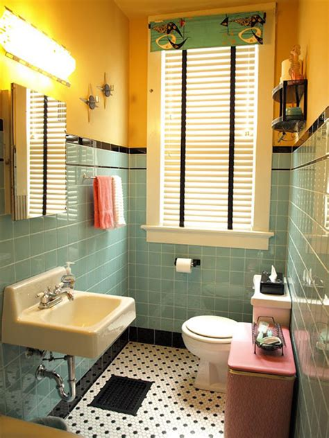 Ideas Bathroom Remodel by Kristen And Paul S 1940s Style Aqua And Black Tile