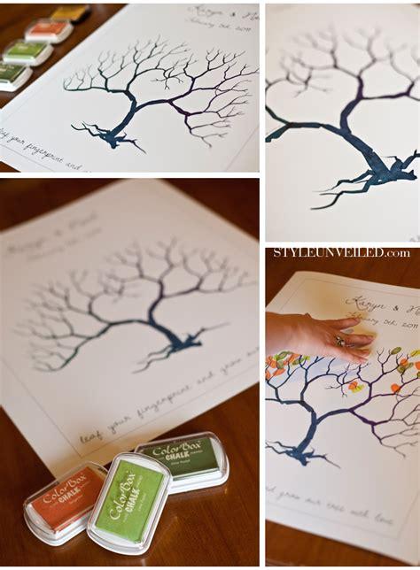 fingerprint tree of guests inspire my wedding