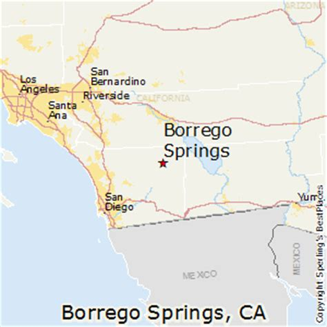 springs california map best places to live in borrego springs california