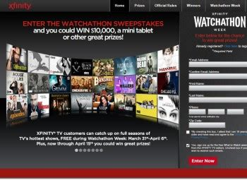 Watchathon Sweepstakes - xfinity watchathon sweepstakes sweepstakes fanatics