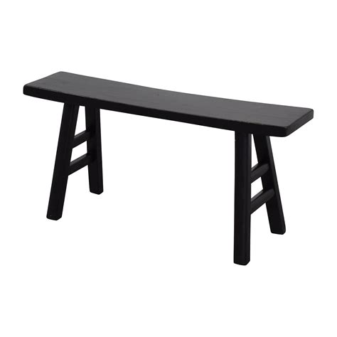 black wooden benches 67 off u shaped black wooden bench chairs