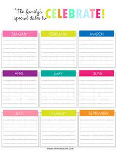 Printable Birthday Chart Template by Birthday Reminder Chart Template Calendar Template 2016