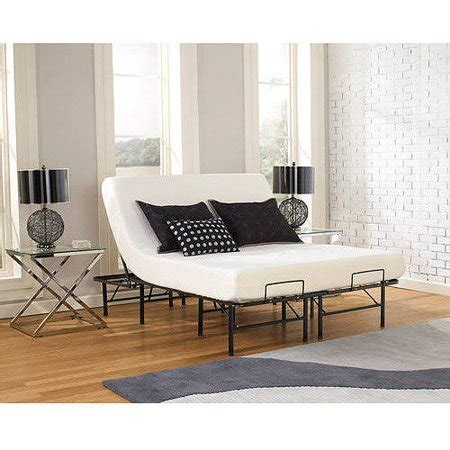 premier simple adjustable platform bed frame sizes walmart