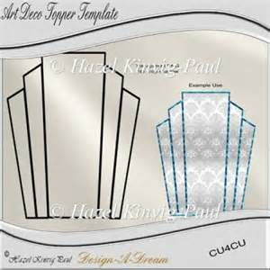 Art Deco Templates Free Larger Image Art Deco Topper Template 163 1 50 Art