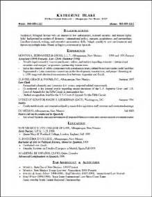 attorney resume exle sle attorney resume