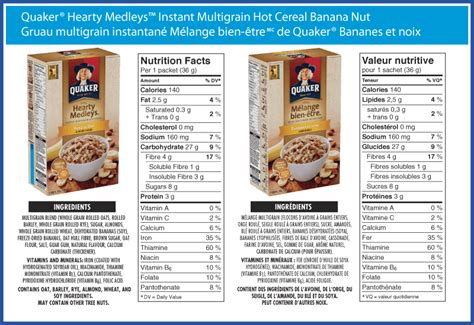 protein quaker oatmeal quaker 174 hearty medleys instant multigrain cereal