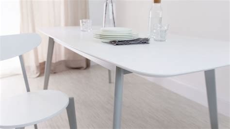 modern rectangular white gloss extending dining table