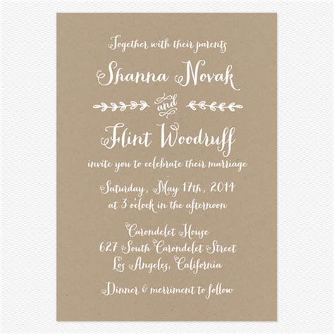 Casual Wedding Invitation Template by Casual Wedding Invitation Wording Theruntime