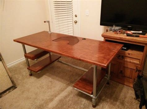 diy industrial pipe desk custom diy industrial pipe desk for gaming and design