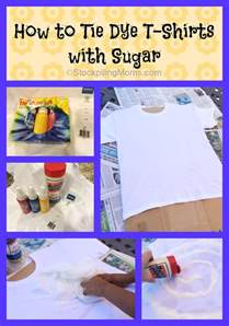 how to tie dye a shirt with food coloring how to tie dye t shirts with sugar