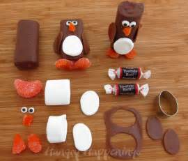 snack cake penguins fun christmas candy and crafts