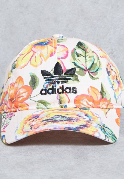 shop adidas originals prints floral print cap br