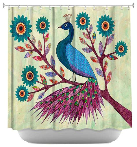peacock shower curtain shower curtain artistic blue peacock contemporary
