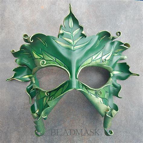 printable leaf mask lady of the leaves mask beadmask