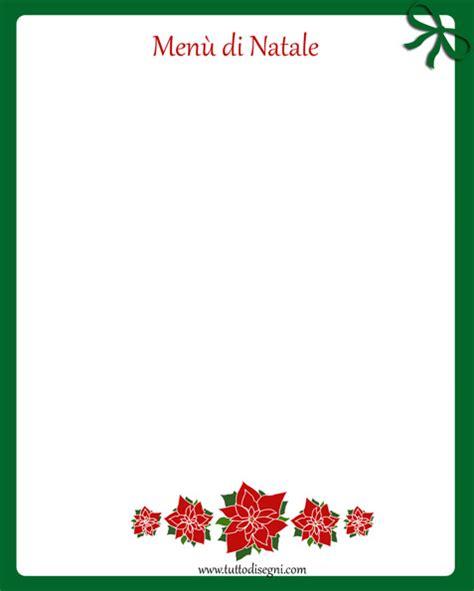 cornici per menu 249 di natale colorato da stare tuttodisegni