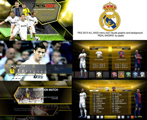 download mod game pes 2013 pes modif download all mods graphic real madrid pes 2013