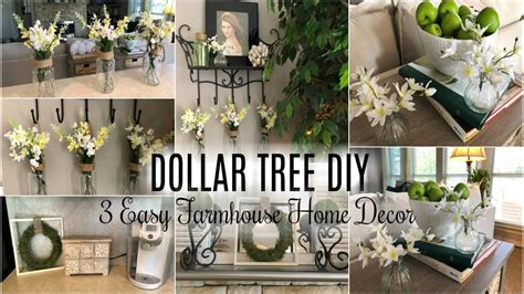 dollar tree diy  easy farmhouse decor diy ideas youtube