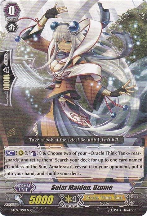 Vanguard Cardfight Oracle Think Thank Deck Eng solar maiden uzume oracle think tank cardfight vanguard cards i solar