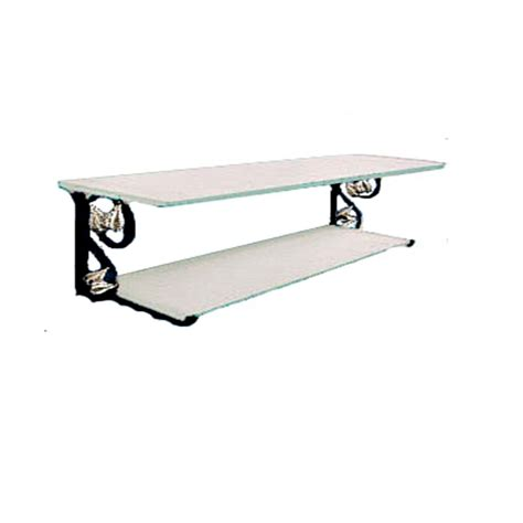 Nameeks Toscanaluce G243 Grip Three Level Shelf Unit With Rails And Chrome Mounting Atg Stores Black Bathroom Shelves With Beautiful Creativity Eyagci