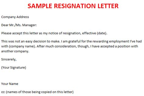 Resignation Letter Email India Resignation Letter Sles Best Business Template