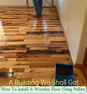 How To Make Floor how to install a wooden floor using pallets