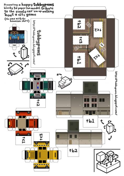 Gta Papercraft - paper craft new 595 papercraft city templates