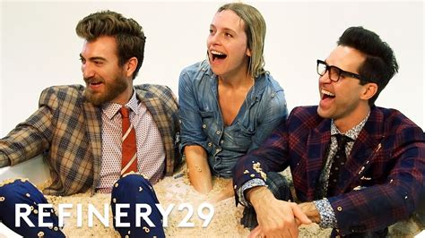 rhett link s book of mythicality a field guide to curiosity creativity and tomfoolery books refinery29 joined rhett link shoot cover of their new