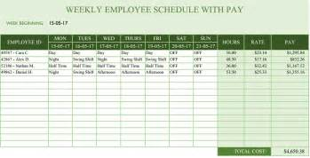 department schedule template office maintenance schedule excel template free