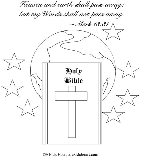 The Bible Coloring Page bible memory verse coloring page