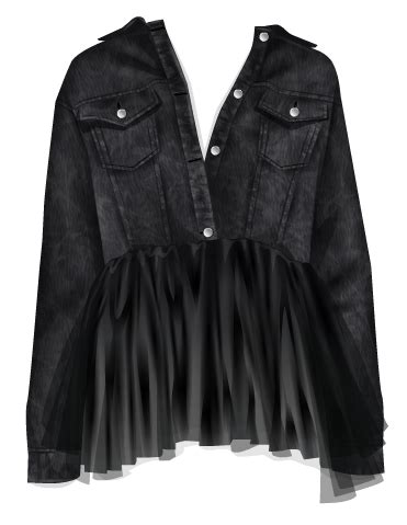 Zara Jaket Denim Jacket With Tulle truques stardoll hoje hotbuys rock n roll tulle denim