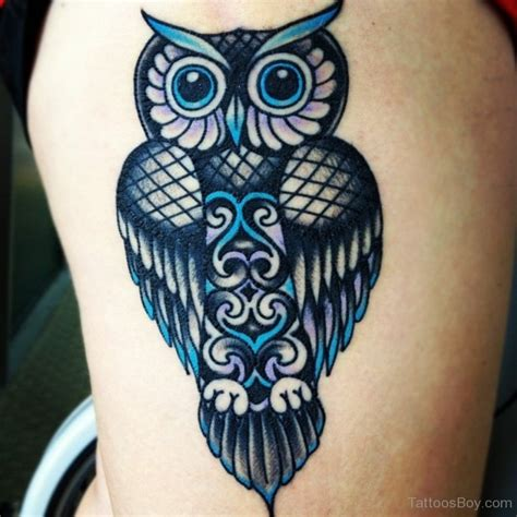 owl thigh tattoos owl tattoos designs pictures page 5