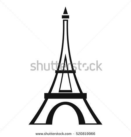 Eiffel Tower Simple Drawing