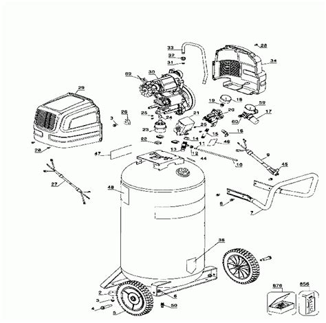 sears craftsman 919 167600 919 167700 air compressor parts