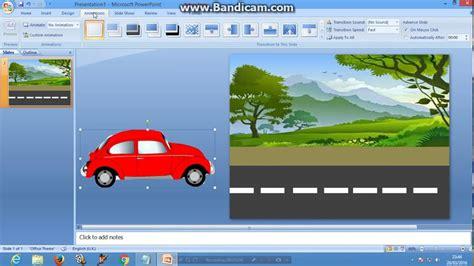 membuat power point lucu cara membuat animasi mobil berjalan di power point youtube