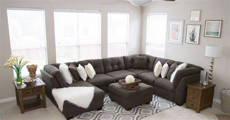 Kid Friendly Sectional Sofa Modern Chic Comfortable And Kid Friendly The Delta Grey Sectional Sofa Is The