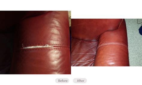 repair split in leather sofa how to fix leather sofa seam catosfera