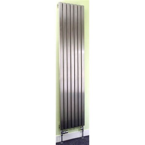 stainless steel radiators for bathrooms apollo ferrara brushed stainless steel vertical radiator